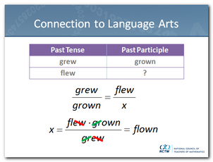 Proportion - Past Participle