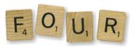 Four Scrabble
