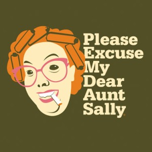 PEMDAS Aunt Sally t-shirt
