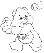 Bear Playing Baseball