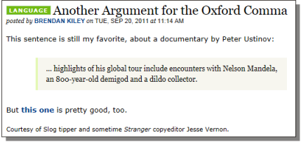 Oxford Comma - Mandela