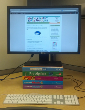 Monitor With Textbooks