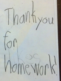 Thank You For Homework