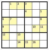 Pseudoku Puzzle