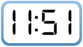 11:51 Digital Clock