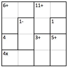 Easy 4x4 KenKen