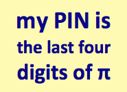 PIN Digits Pi