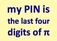 PIN Digits Pi