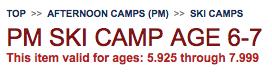 Ski Camp Math
