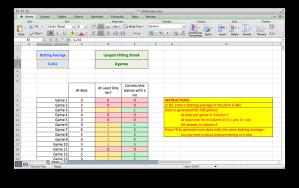Hit Streak Excel