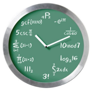 Math Expressions Wall Clock