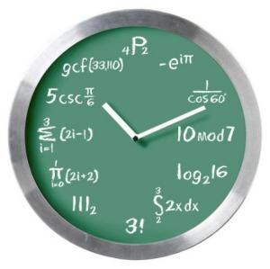 Math Expressions Wall Clock