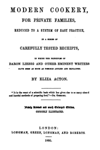 Modern Cookery - Title Page