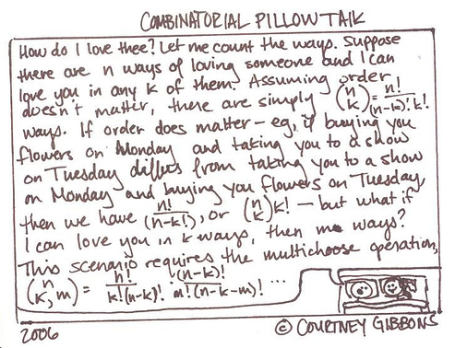 Combinatorial Pillow Talk