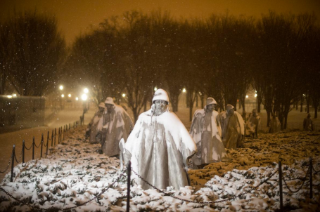 Korean War Memorial - Snowzilla