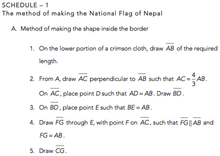 Nepal Flag Method Math