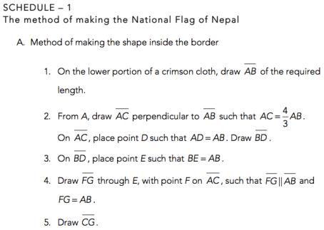 Nepal Flag Method Math