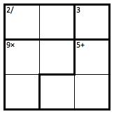 Easy 3x3 KenKen