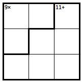 Fun 3x3 KenKen