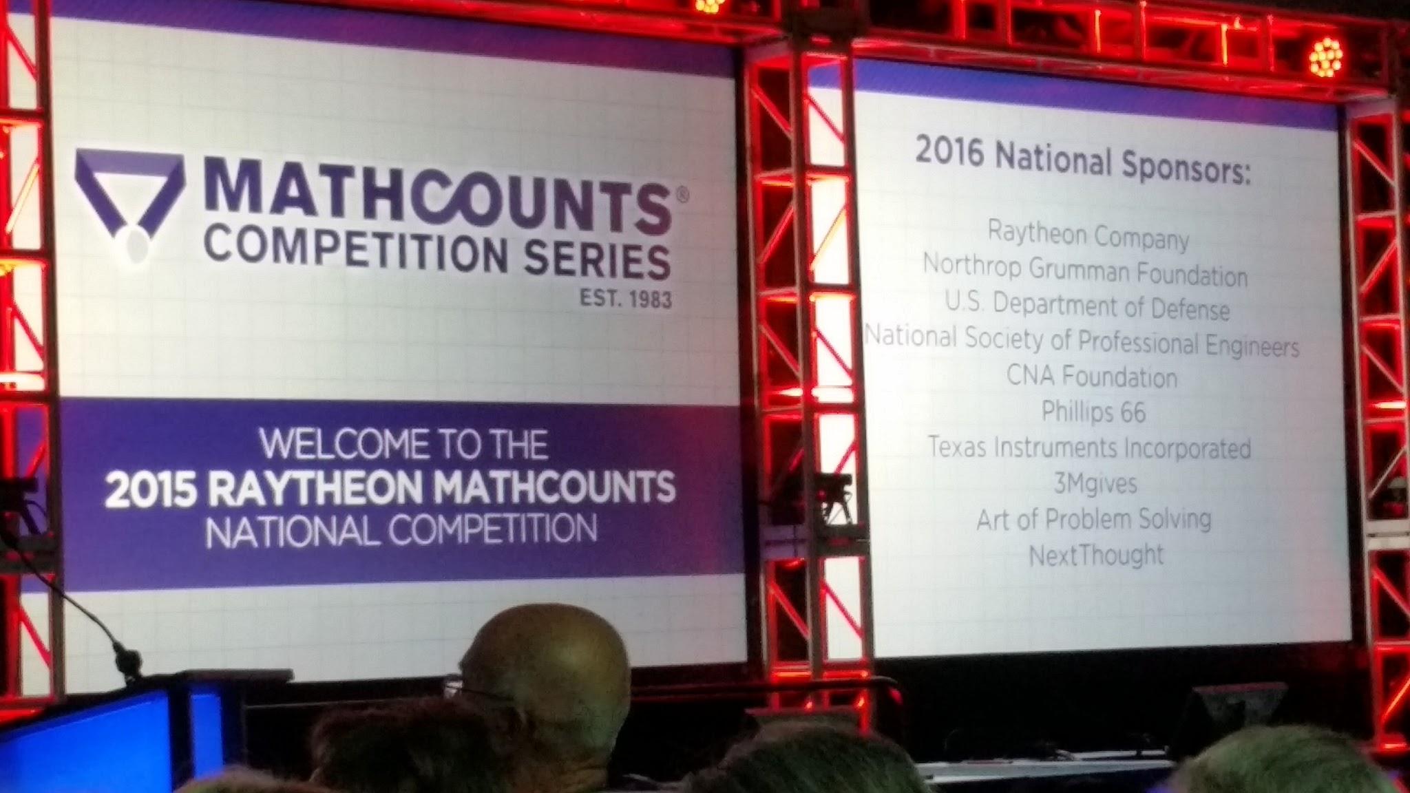 MathCounts 2015 2016