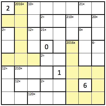 KenKen 2016 Puzzle