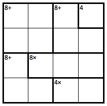 KenKen 8s and 4s