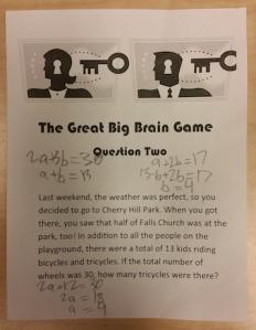 2017 Brain Game Puzzle 2