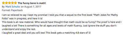 More Jokes 4 Mathy Folks Amazon Review