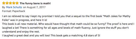 More Jokes 4 Mathy Folks Amazon Review