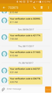 Verification Codes