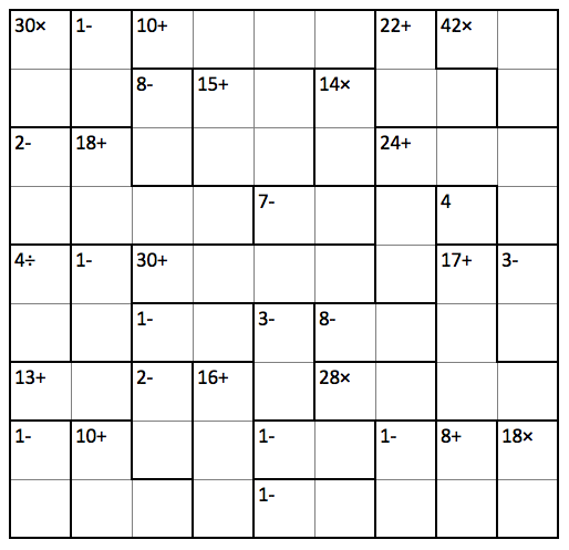 It is a graphic of Printable Kenken throughout answer
