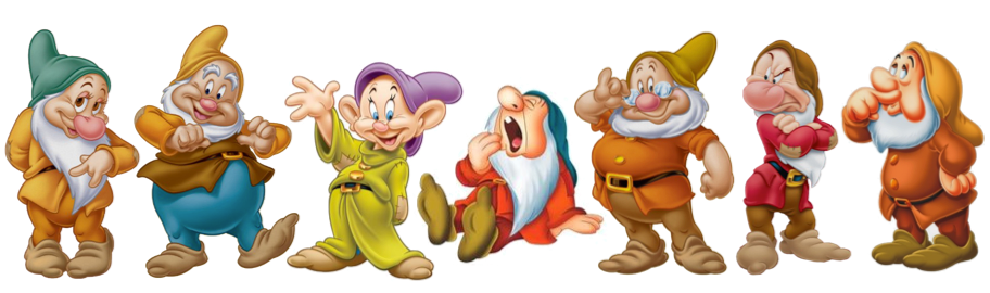 Image result for images of the seven dwarfs and their names