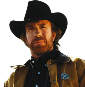 Chuck Norris as Walker Texas Ranger